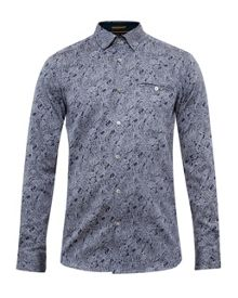 Ted Baker Bottly Paisley print cotton shirt