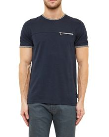 Ted Baker Lincolm Zip Pocket Cotton Blend T-shirt