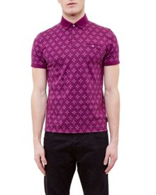 Ted Baker Fella Diamond print polo shirt