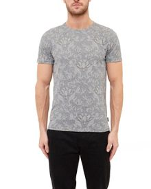 Ted Baker Hapyval Floral Print Cotton Blend T-Shirt