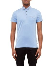 Ted Baker Super Geo Print Collar Polo Shirt