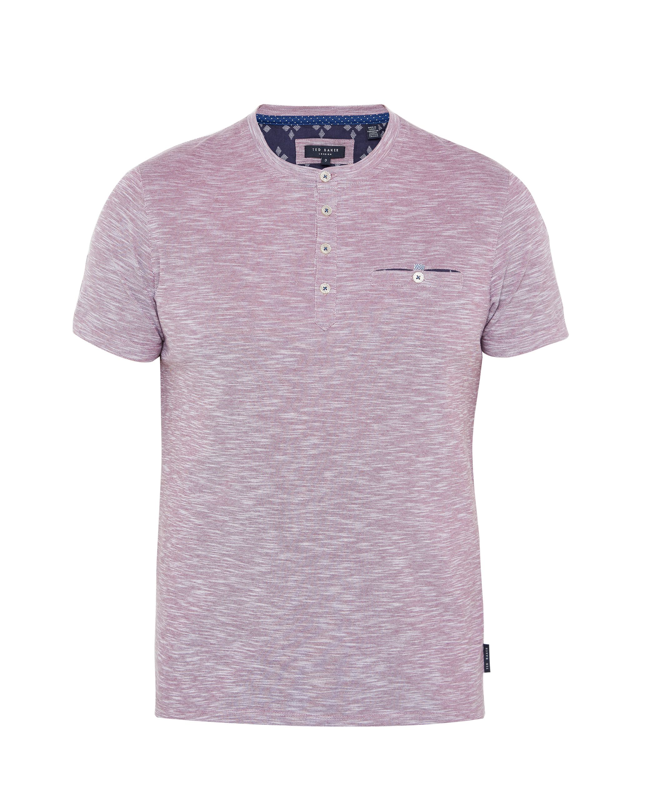 Men's Ted Baker Rocher Cotton Henley T-Shirt, Grape