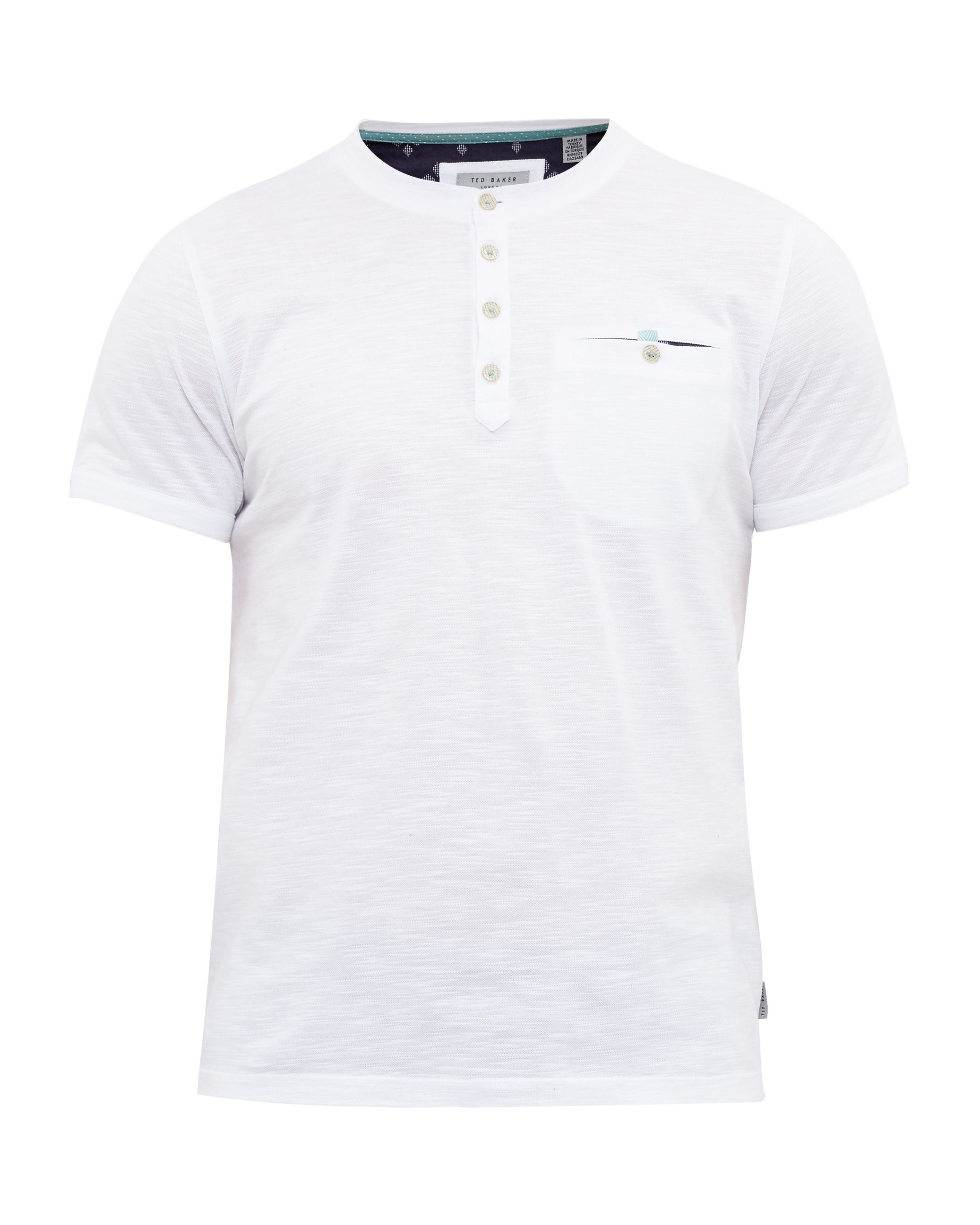Men's Ted Baker Rocher Cotton Henley T-Shirt, White