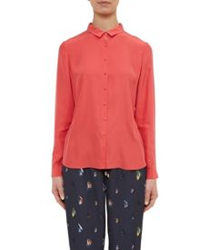 Ted Baker Gussie Button-front silk shirt