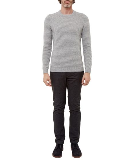 Ted Baker Gridloc Cable Knit Crew Neck Jumper