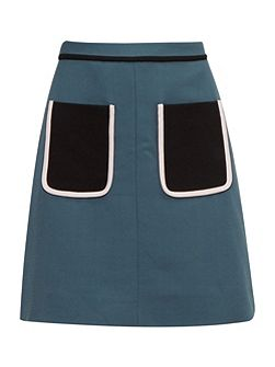 Naira Colour block pocket skirt