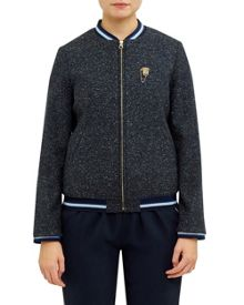 Ted Baker Prema Striped trim bomber jacket