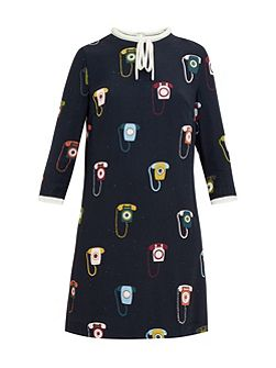 Javah Telephone print shift dress