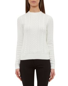 Ted Baker Poplin Cable knit jumper