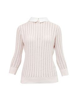 Harlis Scalloped collar jumper
