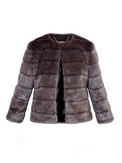 Fabunni Faux fur cropped jacket
