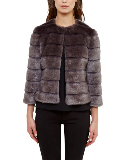 Ted Baker Fabunni Faux fur cropped jacket