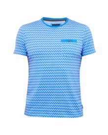 Ted Baker Pasta Geo Print Cotton Polo Shirt
