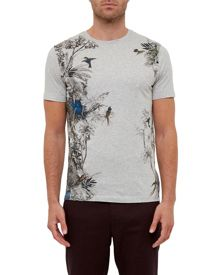 Ted Baker Jelo Tropical graphic cotton T-shirt