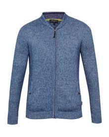 Ted Baker Emmelio Ribbed zip up jumper