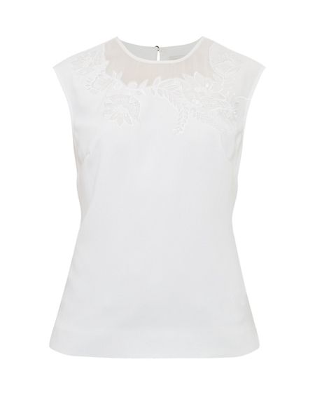 Ted Baker Clarest Floral embroidered top