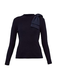Nehru Bow Detail Jumper