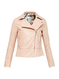 LIzia Leather Biker Jacket