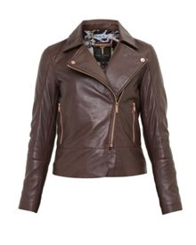 Ted Baker LIzia Leather Biker Jacket