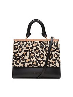 Lailii Leopard print leather bag