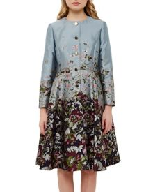 Ted Baker Feelo Entangled Enchantment collarless coat
