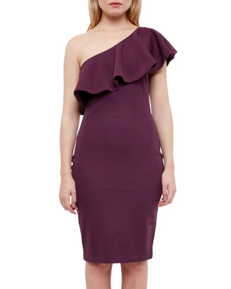 Ted Baker Judei One-shoulder frill dress