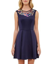 Ted Baker Lavensa Folk Foliage skater dress