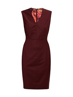 Delihad Fitted V-Neck Suit Dress