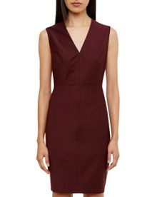 Ted Baker Delihad Fitted V-Neck Suit Dress