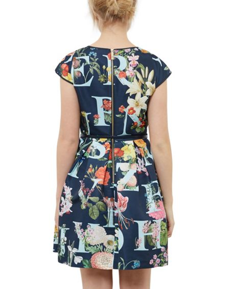 Ted Baker Lusara A-Z Ditzy ottoman dress