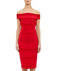 Ted Baker Inan Textured Bardot midi dress
