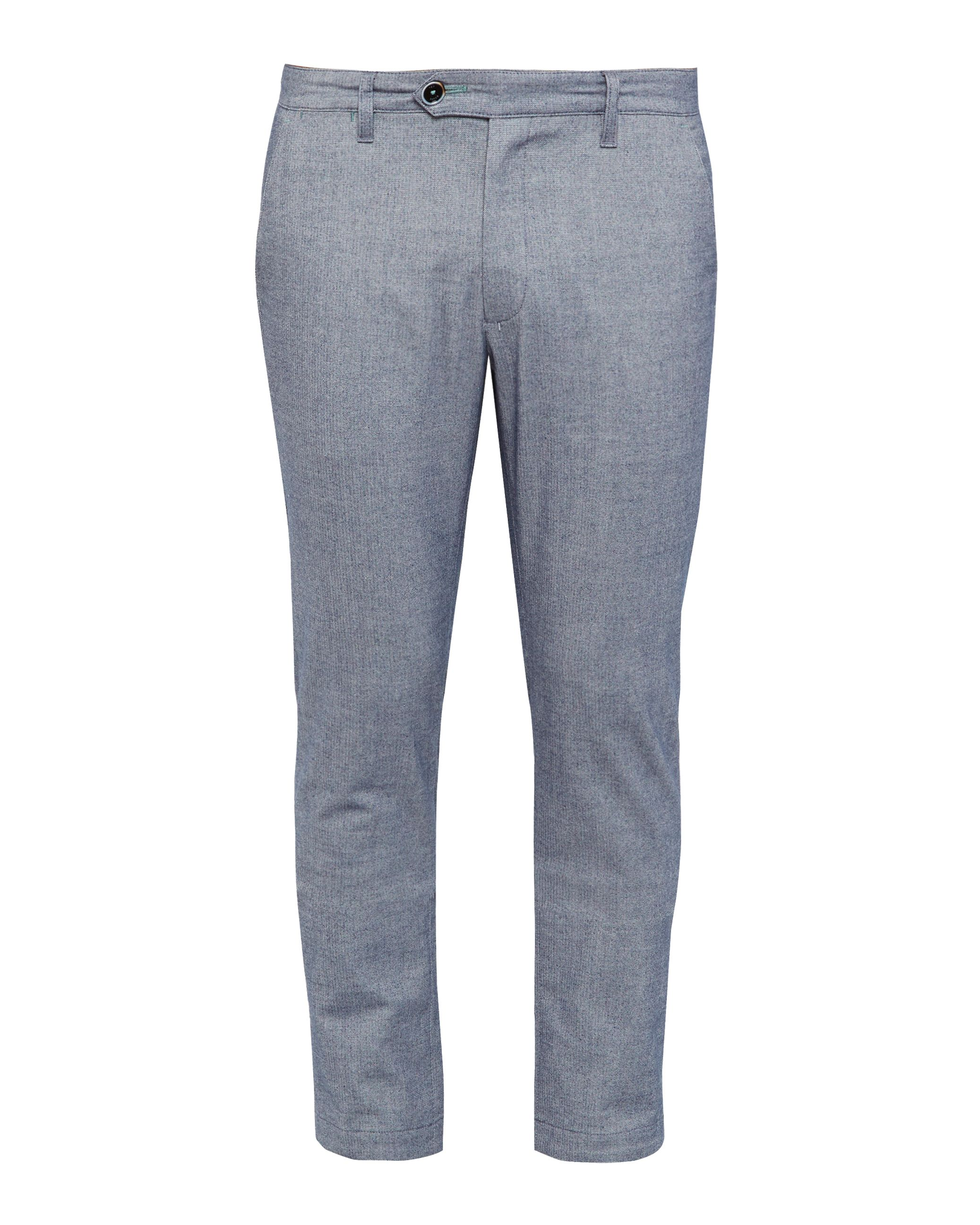 Mens Ted Baker Curlong Slim Fit Oxford Trousers Blue