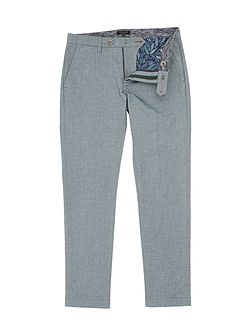 Curlong Slim Fit Oxford Trousers