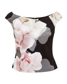 Ted Baker Tabori Porcelain Rose Bardot Top