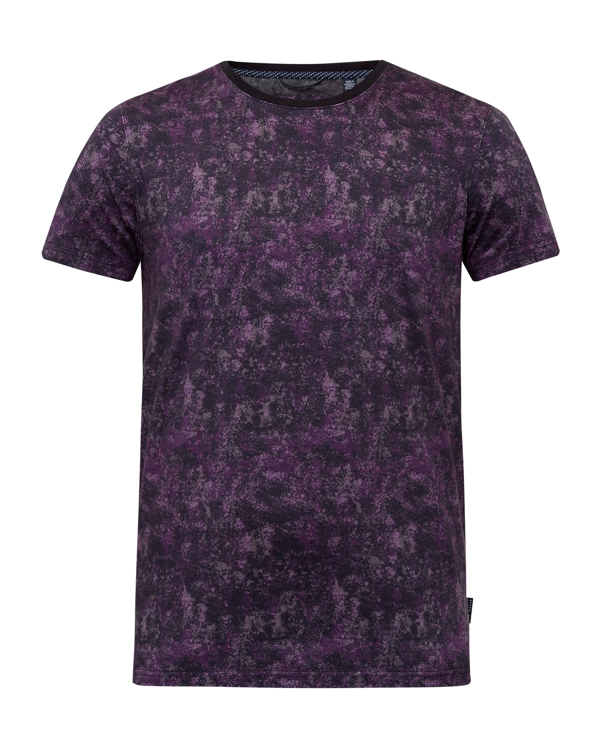 Mens Ted Baker Crafter Printed cotton Tshirt Purple