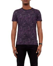 Ted Baker Crafter Printed cotton T-shirt