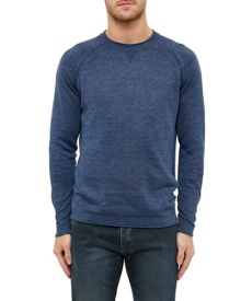 Ted Baker Lyndon Linen Blend Crew Neck Jumper