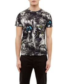 Ted Baker Tropar Parrot printed cotton T-shirt