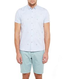 Ted Baker Tropic Embroidered Cotton Shirt