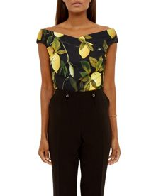 Ted Baker Tiffi Citrus Vine Bardot Top
