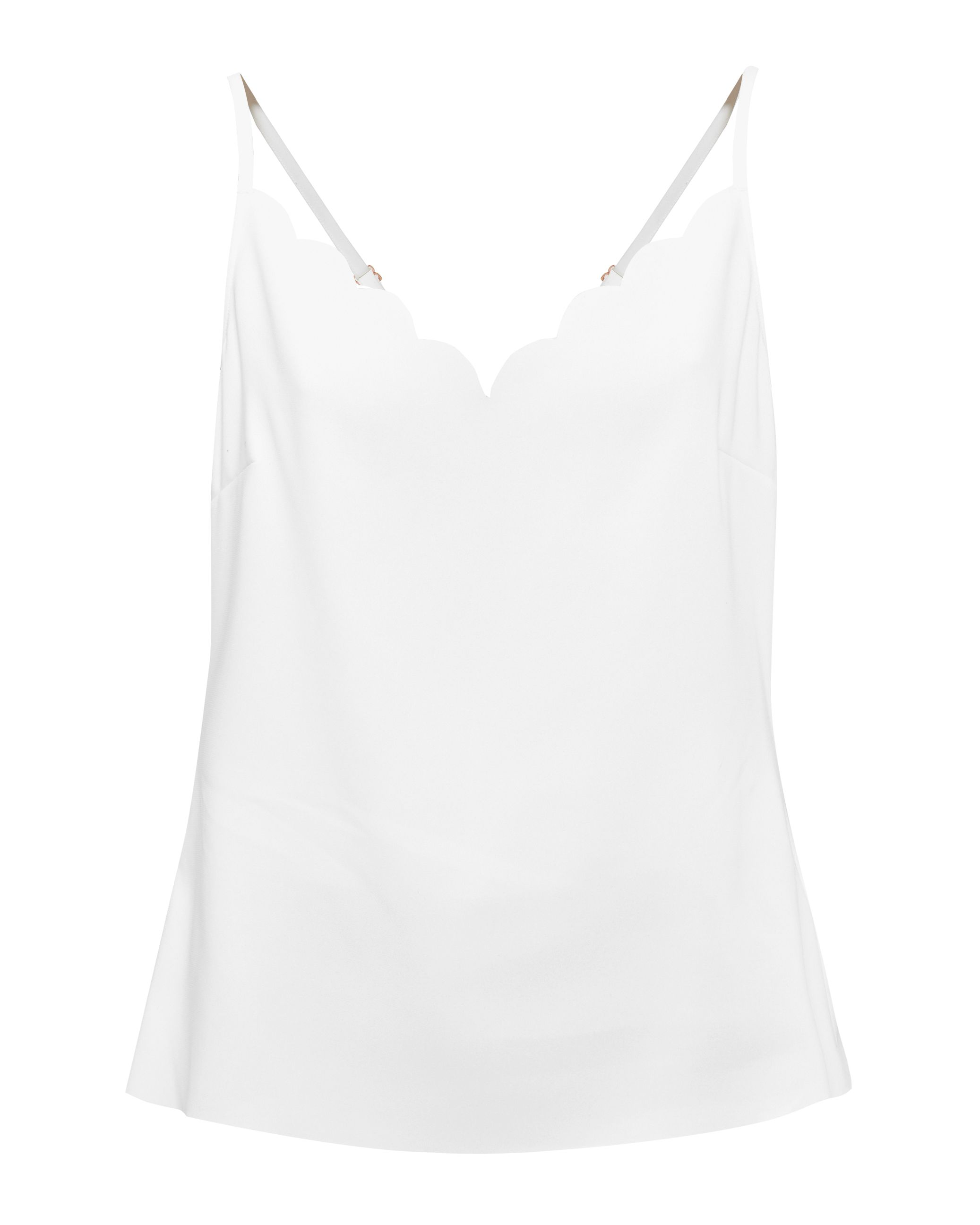Ted Baker Siina Scallop Neckline Top, White
