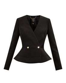 Ted Baker Silaa Double Breasted Peplum Jacket