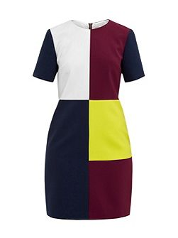 Ardell Colour block shift dress