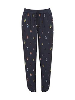 Aleson Fly fish print joggers