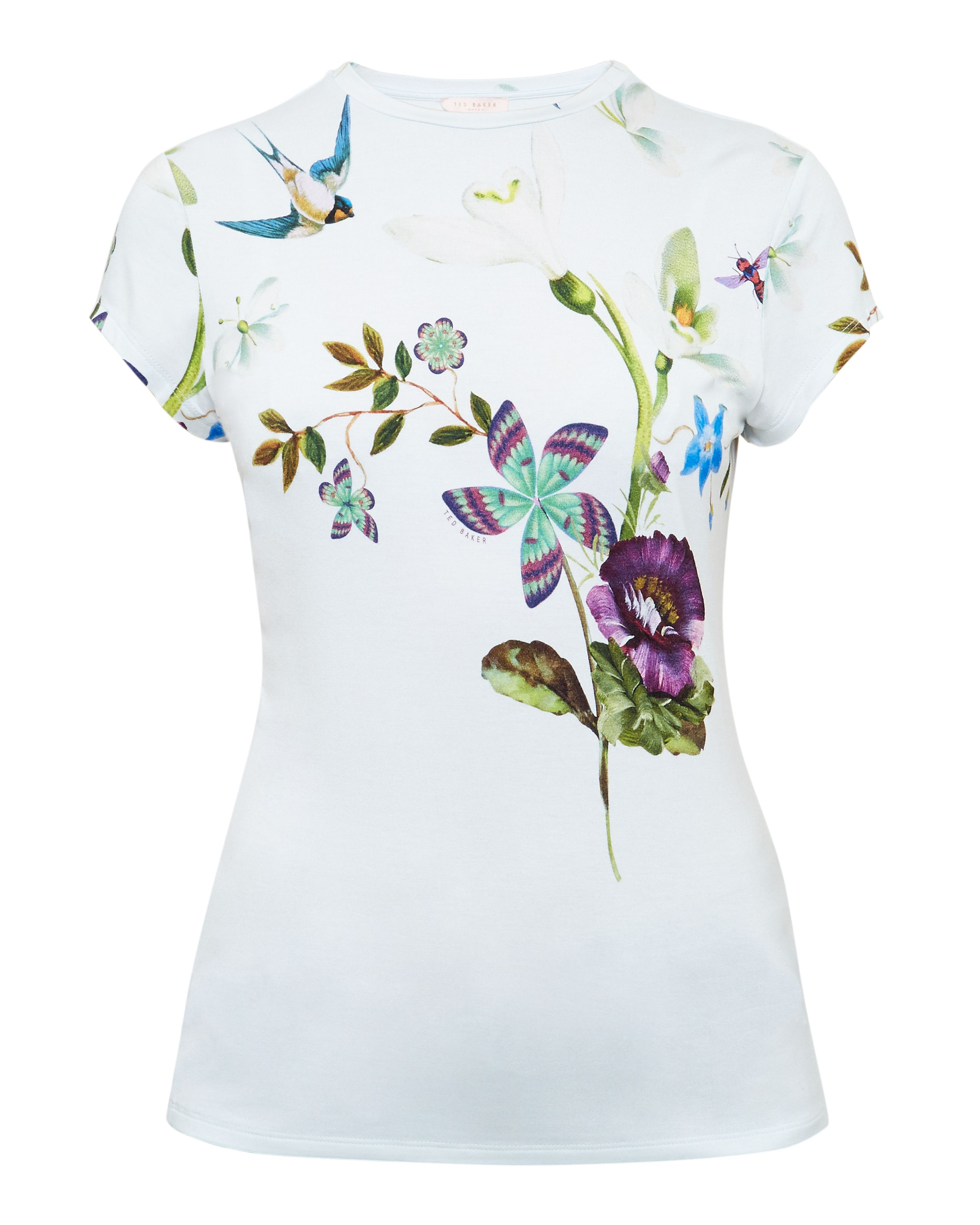 Ted Baker Marliin Spring Meadows fitted Tshirt Pastel Blue