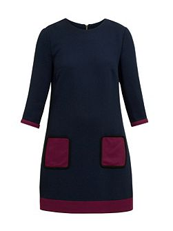 Aor Contrast pocket shift dress