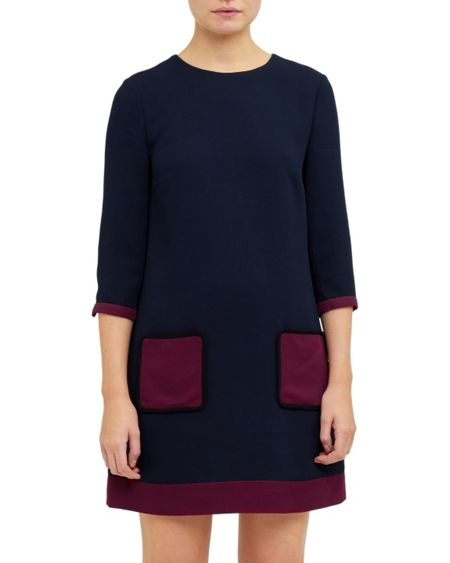Ted Baker Aor Contrast pocket shift dress