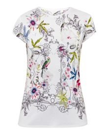Ted Baker Hazelto Passion Flower fitted T-shirt