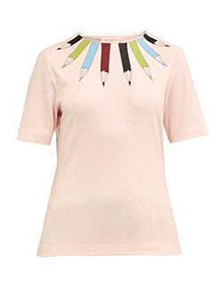 Thanaa Pencil print neckline top