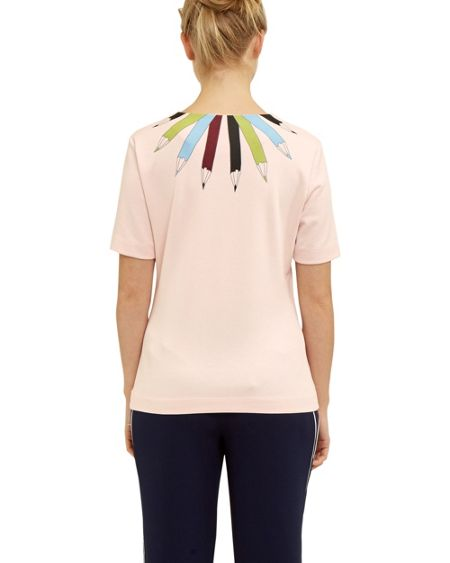 Ted Baker Thanaa Pencil print neckline top